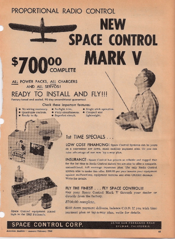 Radio Control Manufacturer: Space Control - History